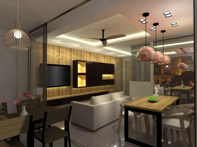 Sketchup Vray 3D living room Interior Design Speed up video