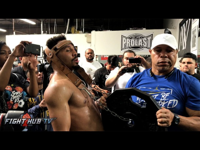 BEAST! ANDRE WARD DOES NECK EXERCISES WITH 45LB WEIGHT IN PREPARATION FOR KOVALEV