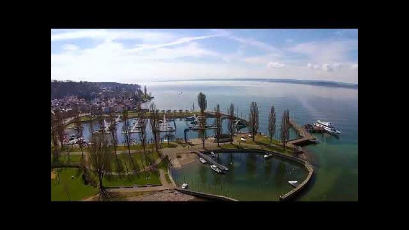 Видеосъёмка с коптера dji. Uhldingen Bodensee Боденское озеро.