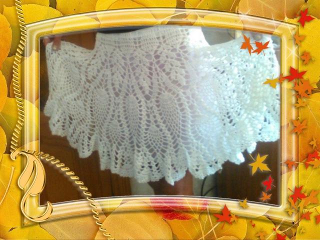 Лёгкая кружевная юбка