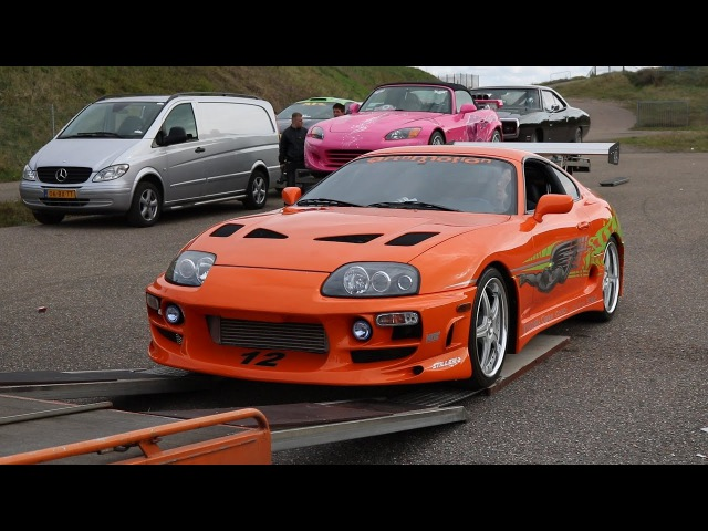FAST FURIOUS CARS AT FAN EVENT ZANDVOORT! (Brian's Eclipse, Original Supra Dom's Charger)