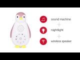 ZAZU Ночник 3 в 1+ колонка +проигрыватель пингвинёнок Зои
