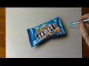 Drawing time lapse: a bag of MM's - How to draw 3D art