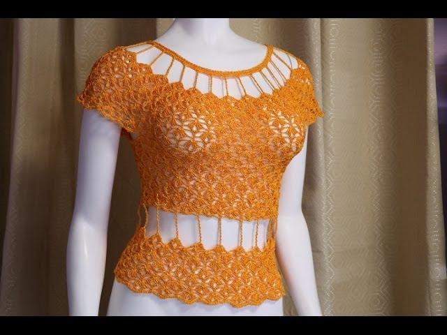 Blusa o Vestido a Crochet paso a paso
