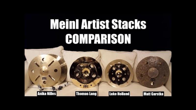 Meinl Artist Concept Model Stacks - Side By Side Comparison