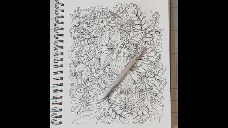 Zendoodle flowers