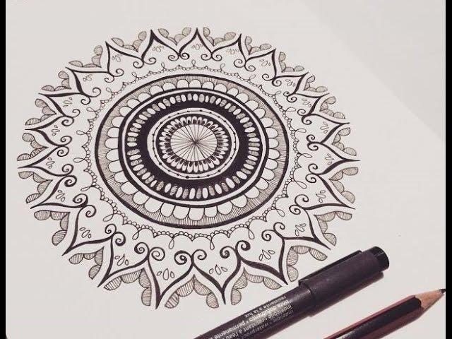 Mandala Zendoodle Time Lapse