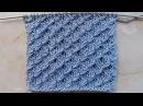 Рельефный узор с обвитыми петлями Вязание спицами Видеоурок 220