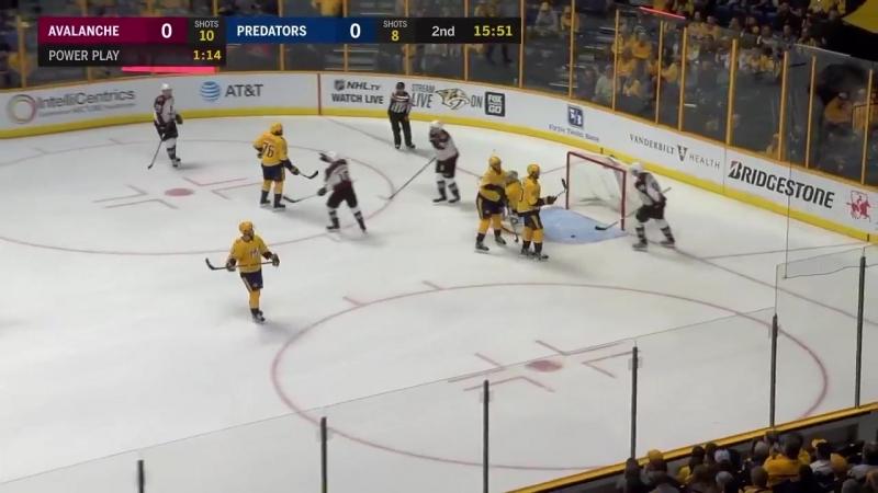НХЛ - регулярный чемпионат. Нэшвилл Предаторз - Колорадо Эвеланш - 4:1 (0:0, 3:1, 1:0)