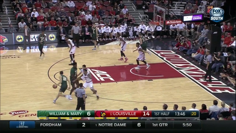 NCAAM 2016/17 | William Mary Tribe @ (13) Louisville Cardinals | 14.11.2016