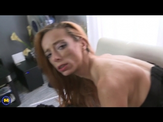 Ginger mom with big tits fucked