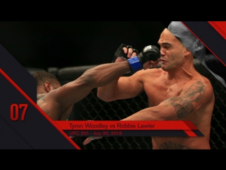 UFC Top 10 KOs of 2016 # 7 Tyron Woodley KO Robbie Lawler