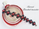 МК - Браслет из бисера и бусин l Beaded bracelet and beads