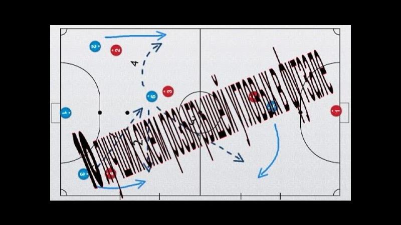 10 лучших схем розыгрышей угловых в футзале/10 best circuits in a corner futsal
