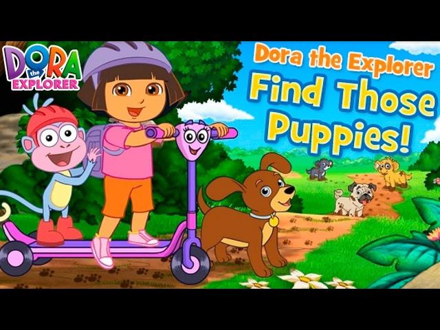 Dora the Explorer Find Those Puppies Funny Games TV