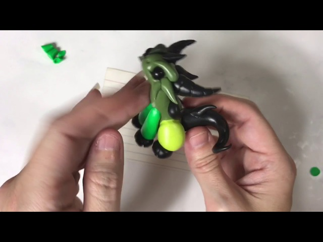 Polymer Clay Dragon   Frankenstein's Monster   Classic Horror Monster   Halloween Craft