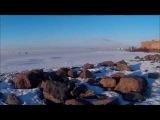 вечер выходного дня Финский залив.Самокат зимой