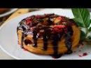 Пончики во фритюре с шоколадом