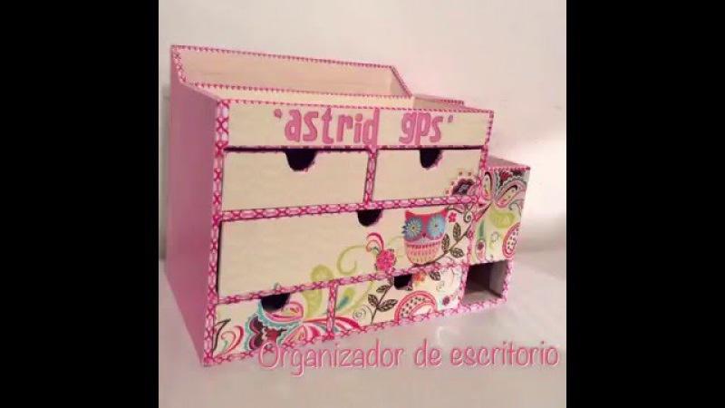Organizador de escritorio - reciclado - carton