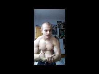 Lean Teen Flexing Sexy Muscles