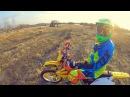 Тренировка эндуро навыков Медленная езда в восьмерке Вилли Переезд бревна Бани хоп