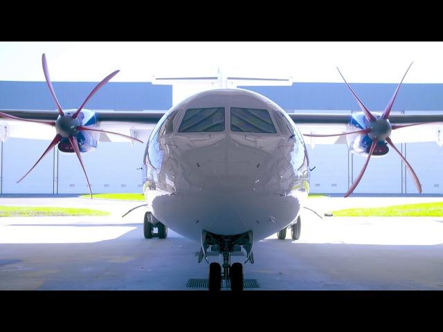 Painting IndiGo's first ATR 72-600