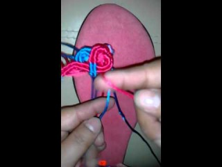 VIDEO #3 SANDALIAS TEJIDAS EN MACRAME