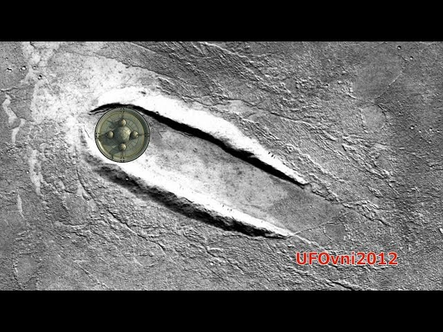 Giant Disc Shaped UFO Landed On Mars