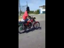 Sizzla taking a ride out on his yeng yeng!