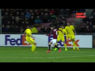 Лига Европы_ Спарта Прага - Ростов - 1:1_ Гол Вячеслава Караваева