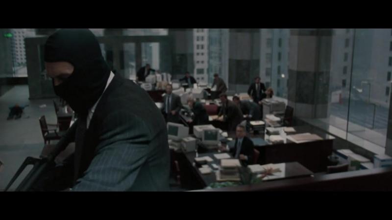 Схватка (1995) - Перестрелка после ограбления банка