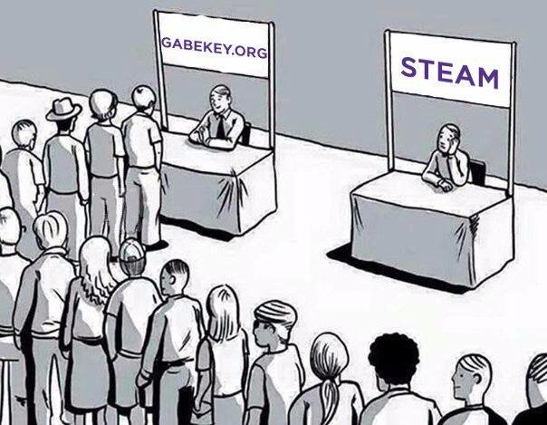Уже никто, почти, не покупает в Steam, не отставай от прогресса, не тр