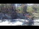 прыжок с тарзанки на Чемальской ГЭС Горный Алтай