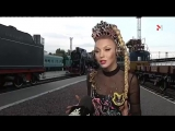 Оля Полякова в программе M1 Music Awards News