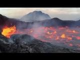 Эрта Але - сильная турбулентность в лавовом озере - видео Guy de Saint-Cyr January 2016  Adventure and volcanoes