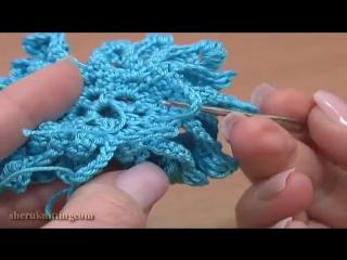 Shibori Live - Big Flower to Crochet Tutorial 61 Part 1 of 3 Crochet Stamens Center