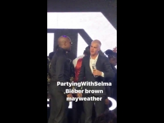 February 25: Another video of Justin at Floyd Mayweathers birthday party in Los Angeles, CA