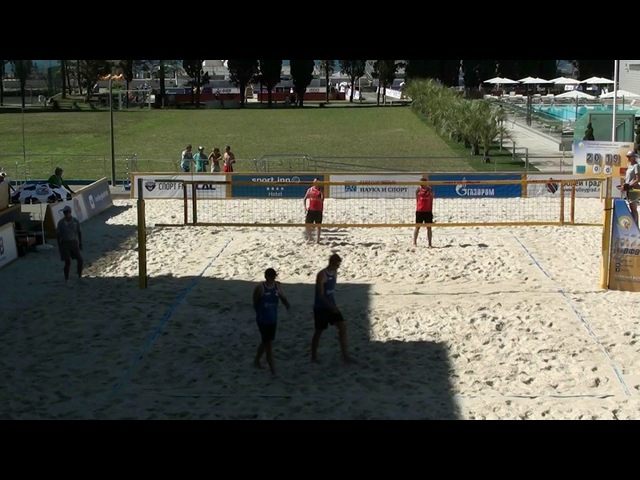 Beach volley Russia Sochi 2017 M 12 Bogatov-Dayanov and Jirkov-Firsov