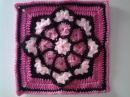 Crochet, cuadrado o bloque vidriera para colcha o manta patron