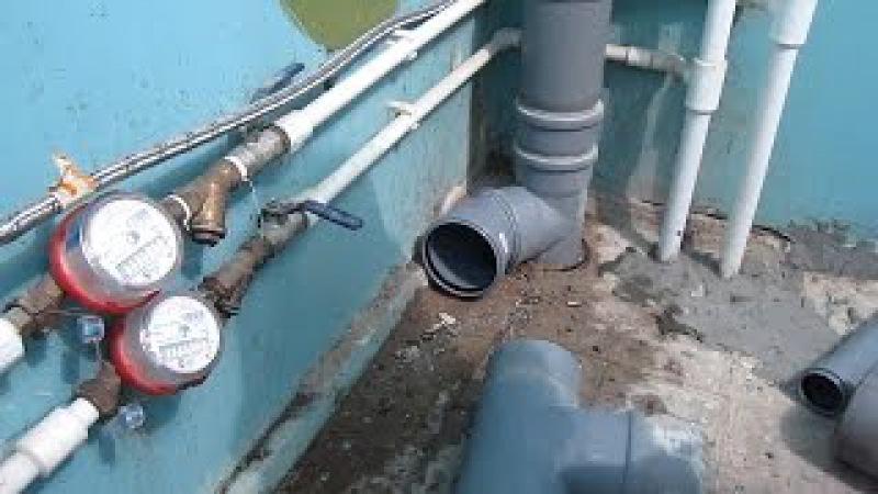 Как НЕ надо делать монтаж труб и установку сантехники при ремонте в ванной! Исправление ошибок