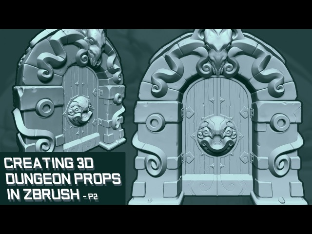 Creating 3D Game Props in Zbrush - Dungeon Door Part 2