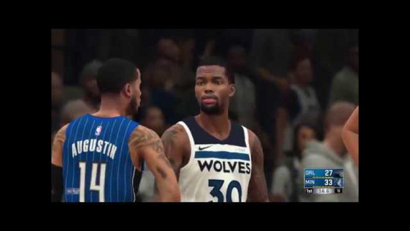 Прохождения игры: NBA 2K18-17 серия Minnesota Timberwolves против команды Orlando Magic