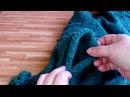 Накидка-жилетка из прямоугольника почти готова/ как сложить полотно при сшивании