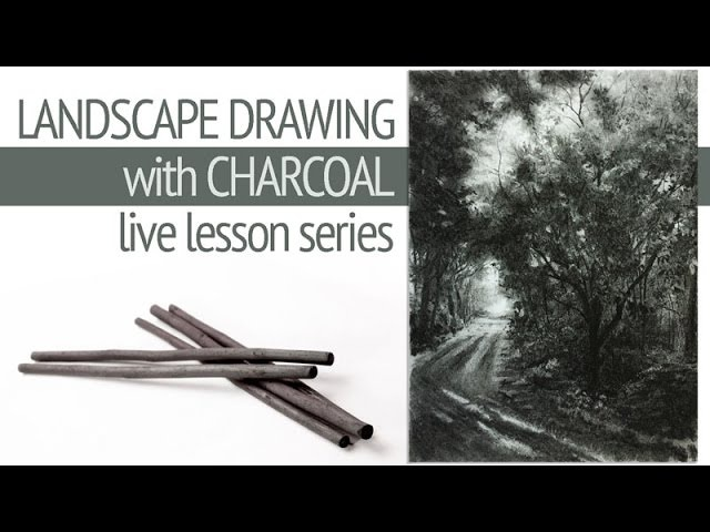 Landscape Drawing with Charcoal