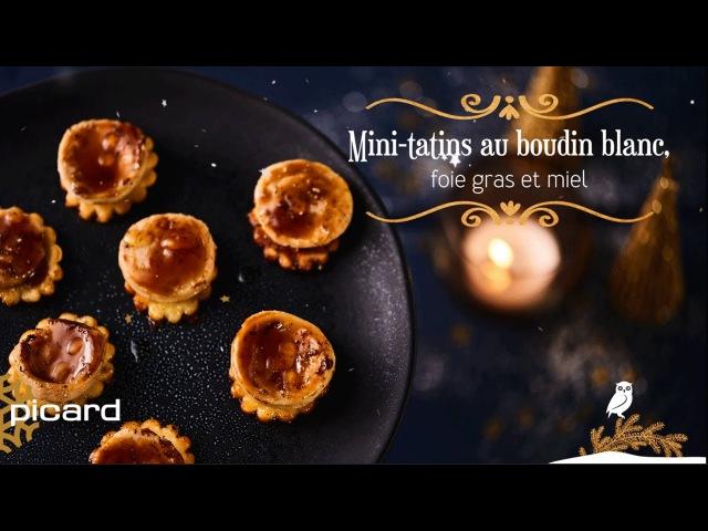 Recette de fêtes : Mini-tatins au boudin blanc, foie gras et miel