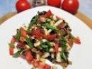 Салат из баклажанов помидоров и сыра Салат с жареными баклажанами