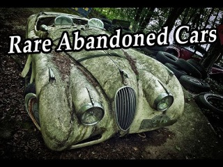 Rare Abandoned Cars Graveyards. Forgotten Rusty Vehicles In Woods. Rusty Auto In Forest Found