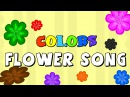 Colors Flowers Song Learn Colors With Colourful Flowers Elearnin
