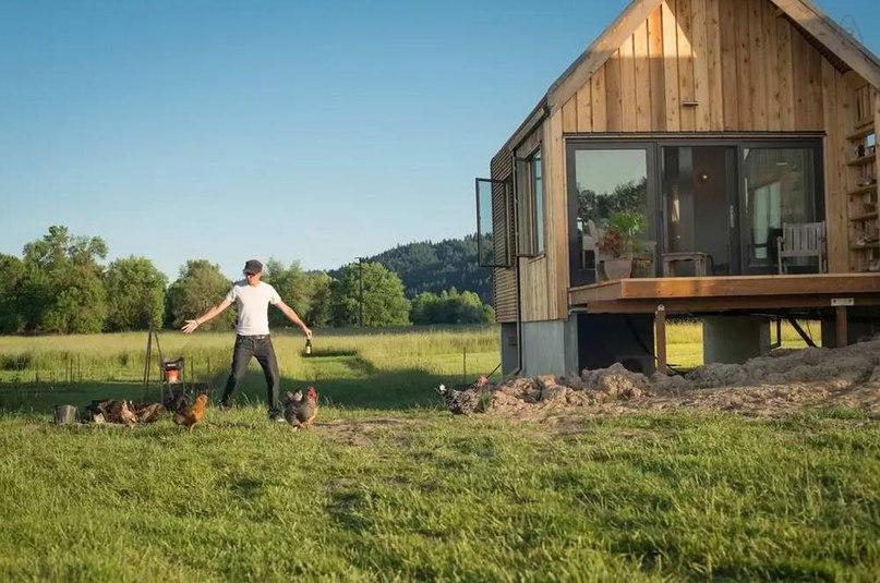 Сельский дом на острове (Island Farm Retreat) в США.