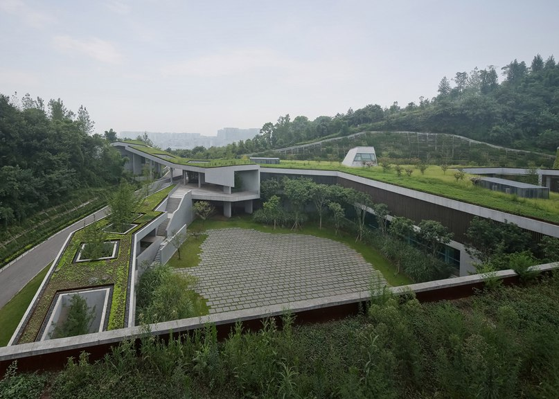 Vector Architects disguises mountainside community centre beneath sprawling grass roof (Part 1)